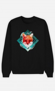 Black Sweatshirt Green Fox