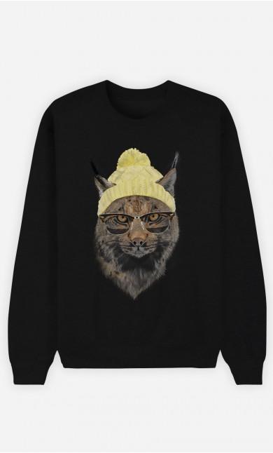 Black Sweatshirt Geeky Cat