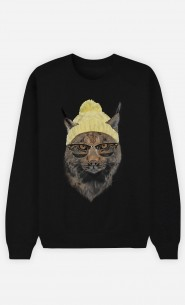Black Sweatshirt Geeky Cat