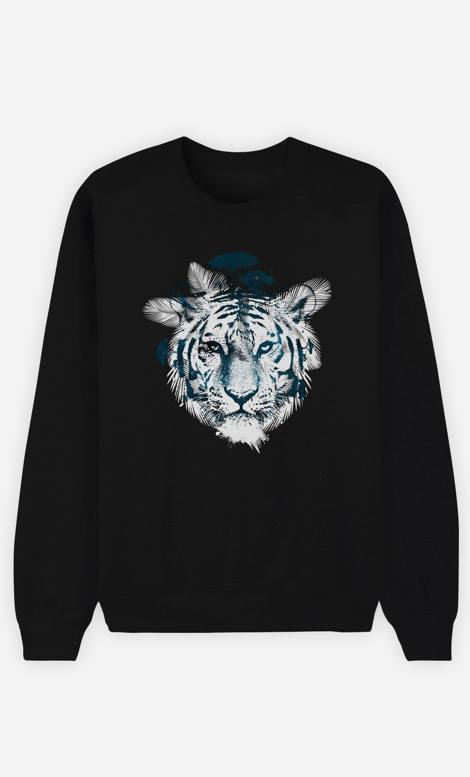 Black Sweatshirt Frozen Tiger