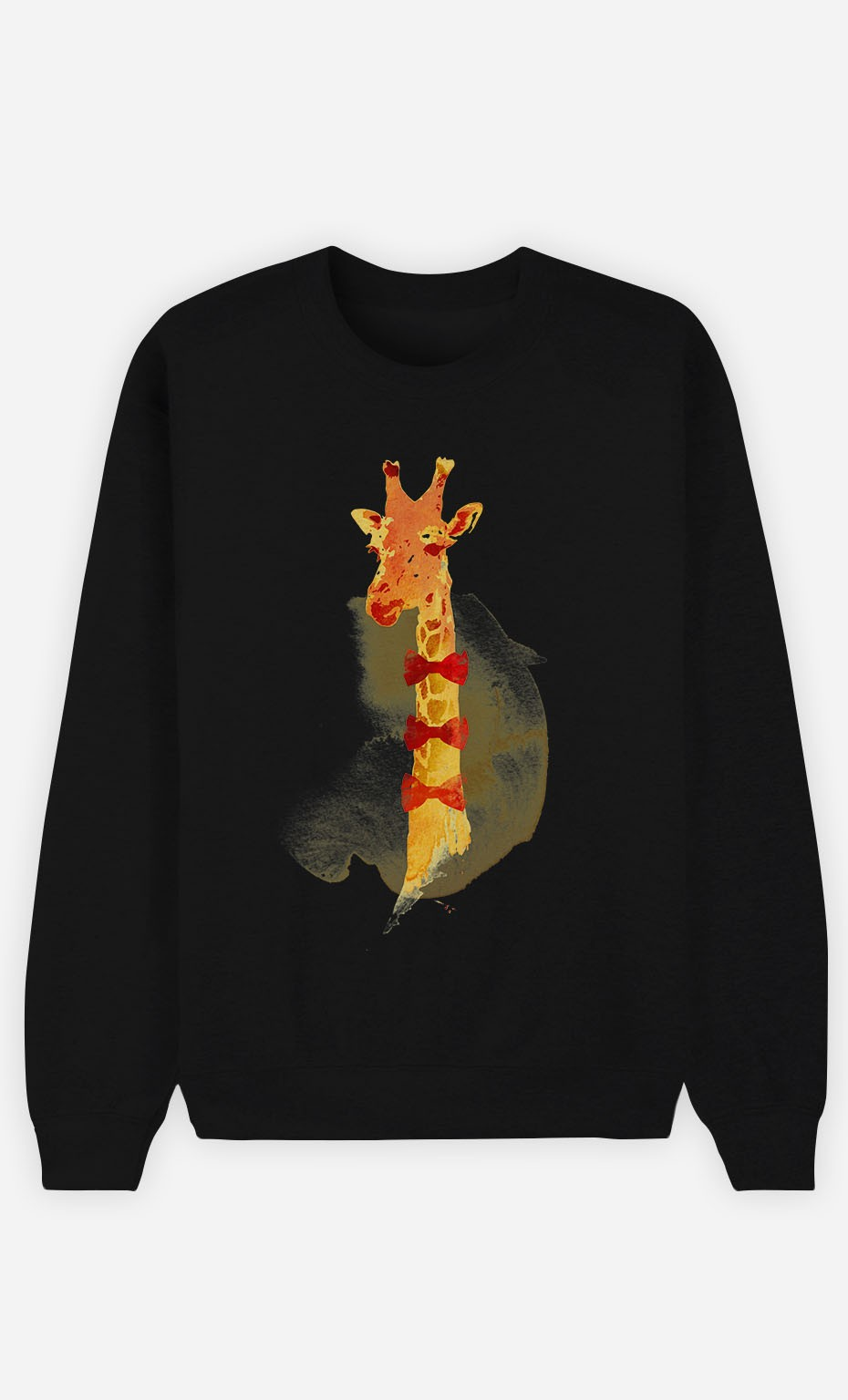 Black Sweatshirt Elegant Giraffe