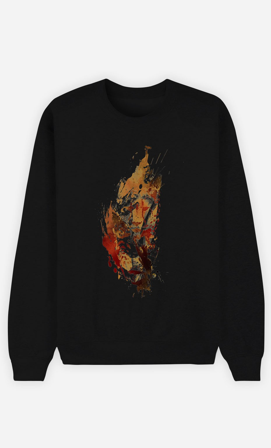 Black Sweatshirt Cheetah