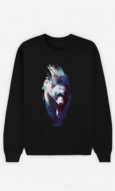 Black Sweatshirt Blue Bear