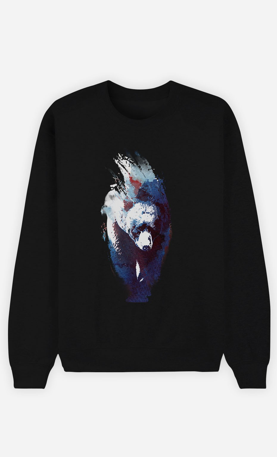 Black Sweatshirt Blue Bear