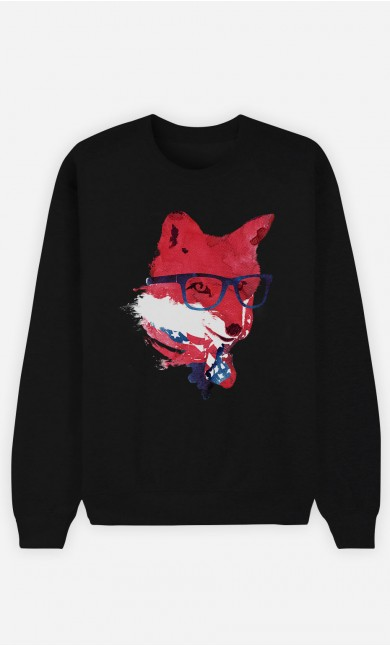 Black Sweatshirt American Fox