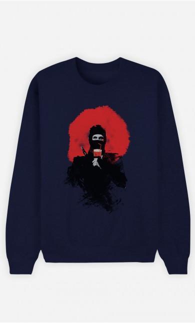 Blue Sweatshirt Soda Ninja