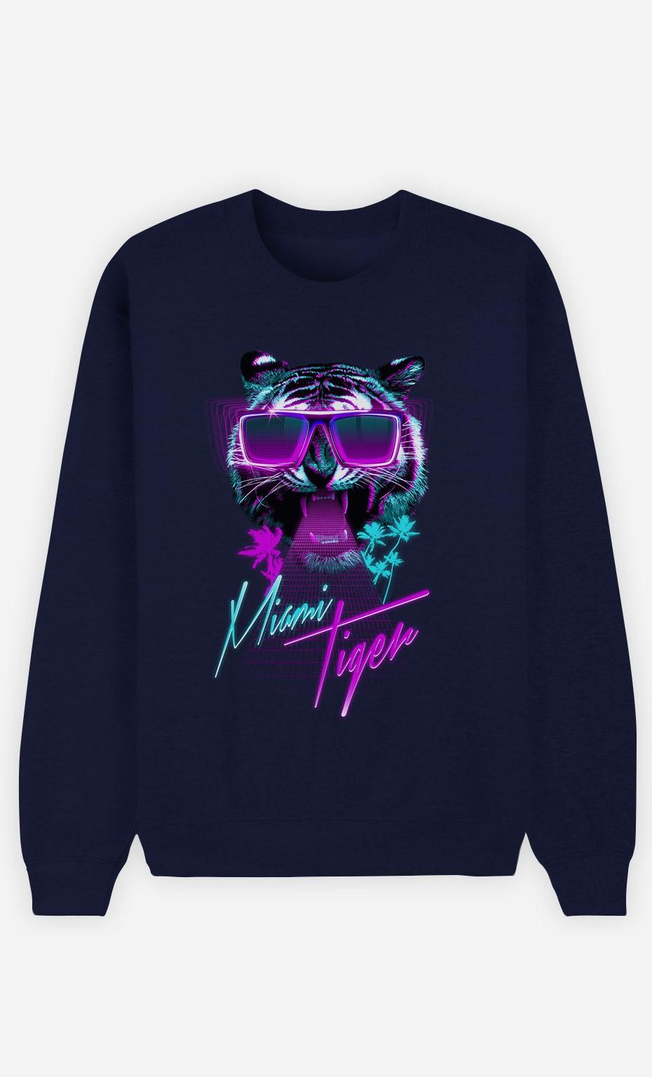 Blue Sweatshirt Miami Tiger