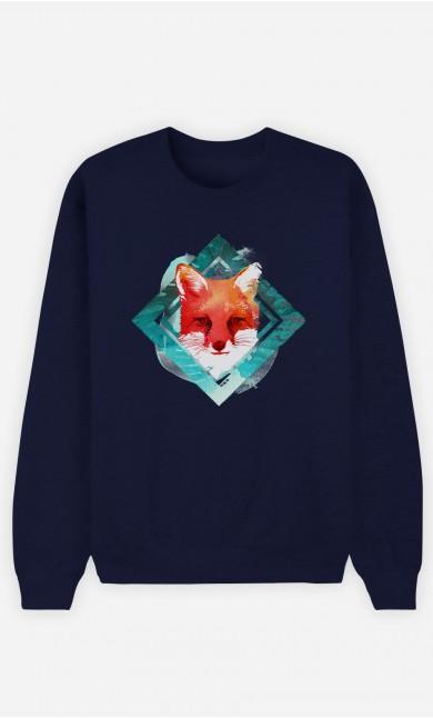 Blue Sweatshirt Green Fox