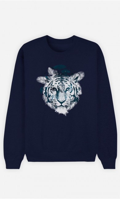 Blue Sweatshirt Frozen Tiger