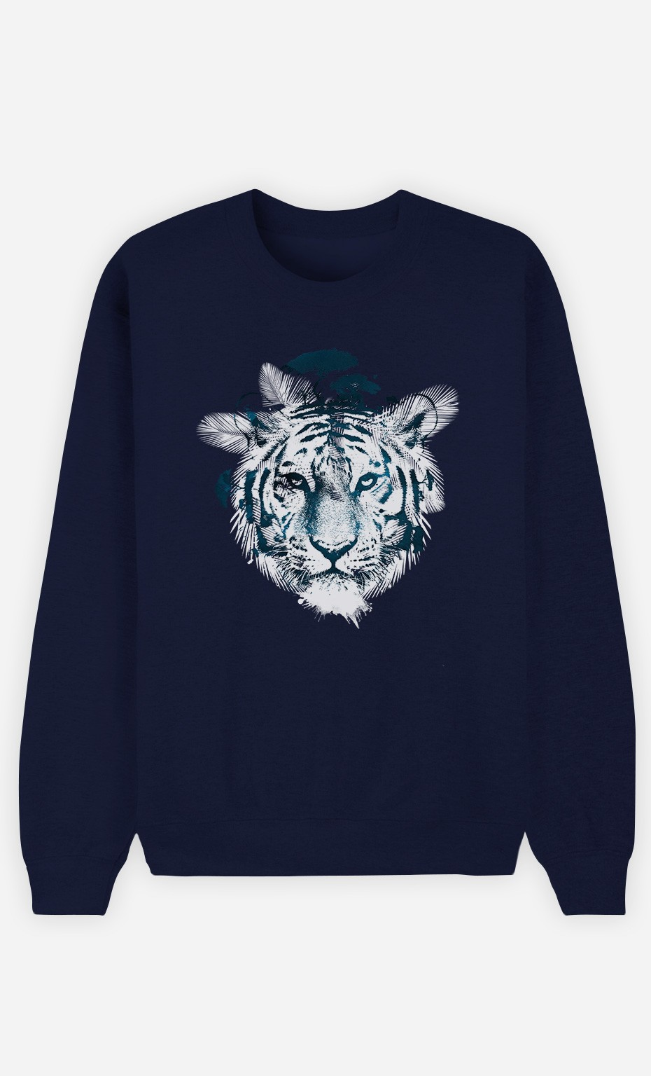 Blue Sweatshirt Frozen Tiger