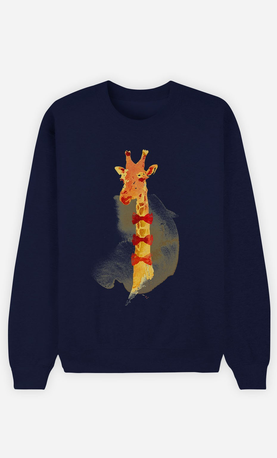 Blue Sweatshirt Elegant Giraffe