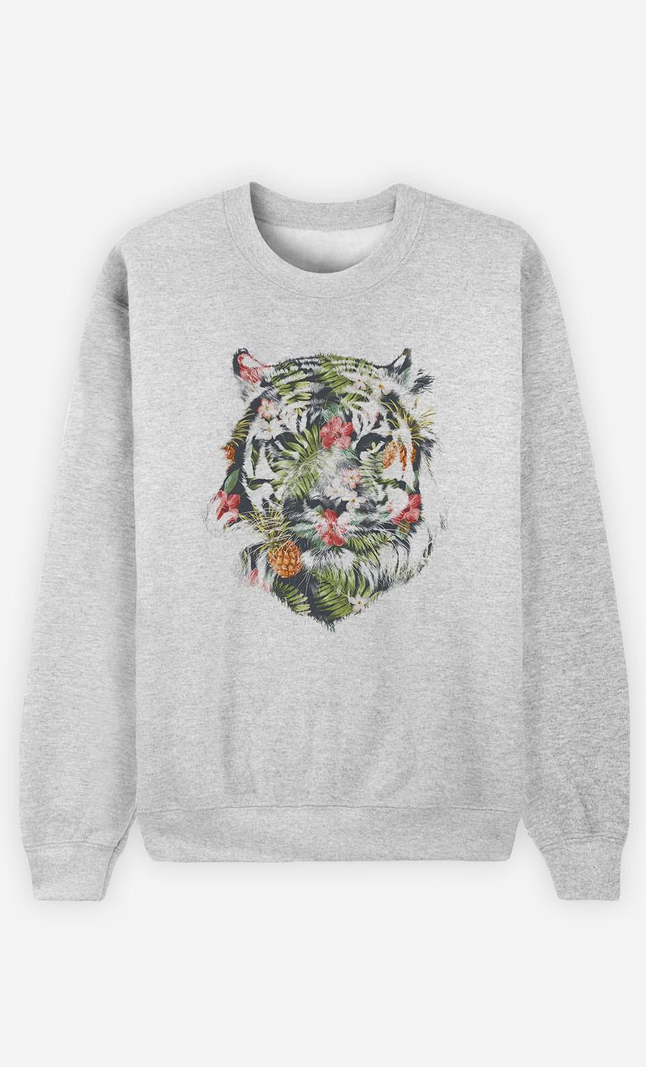Sweatshirt Tropical Tiger