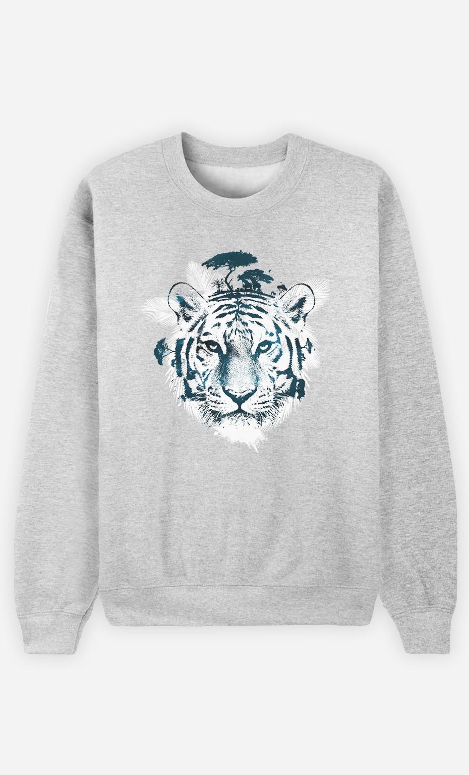 Sweatshirt Frozen Tiger
