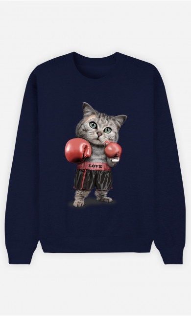 Sweatshirt Boxing cat
