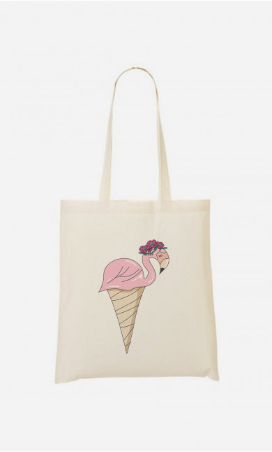 Tote Bag Flamingo Ice Cream