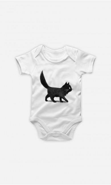 Baby Bodysuit Creeping Cat