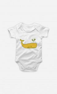 Baby Bodysuit Peace Whale