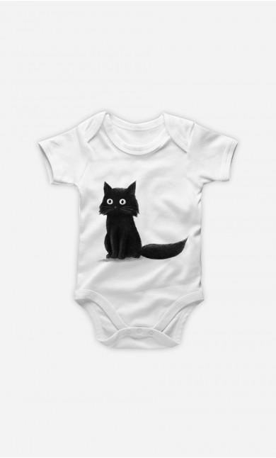 Baby Bodysuit Sitting Cat