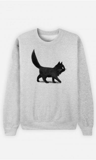 Man Sweatshirt Creeping Cat