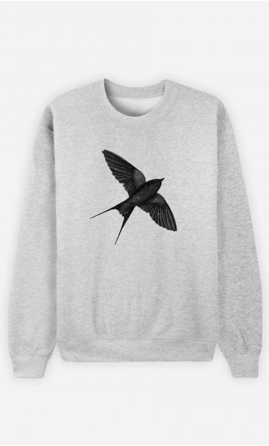 Woman Sweatshirt Night Swallow