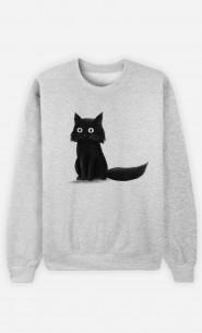 Woman Sweatshirt Sitting Cat