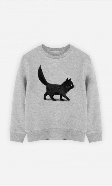 Kid Sweatshirt Creeping Cat