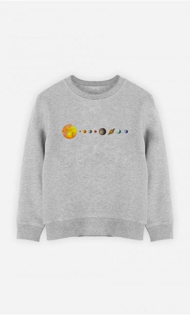 Kid Sweatshirt Solar System