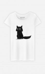 Woman T-Shirt Sitting Cat