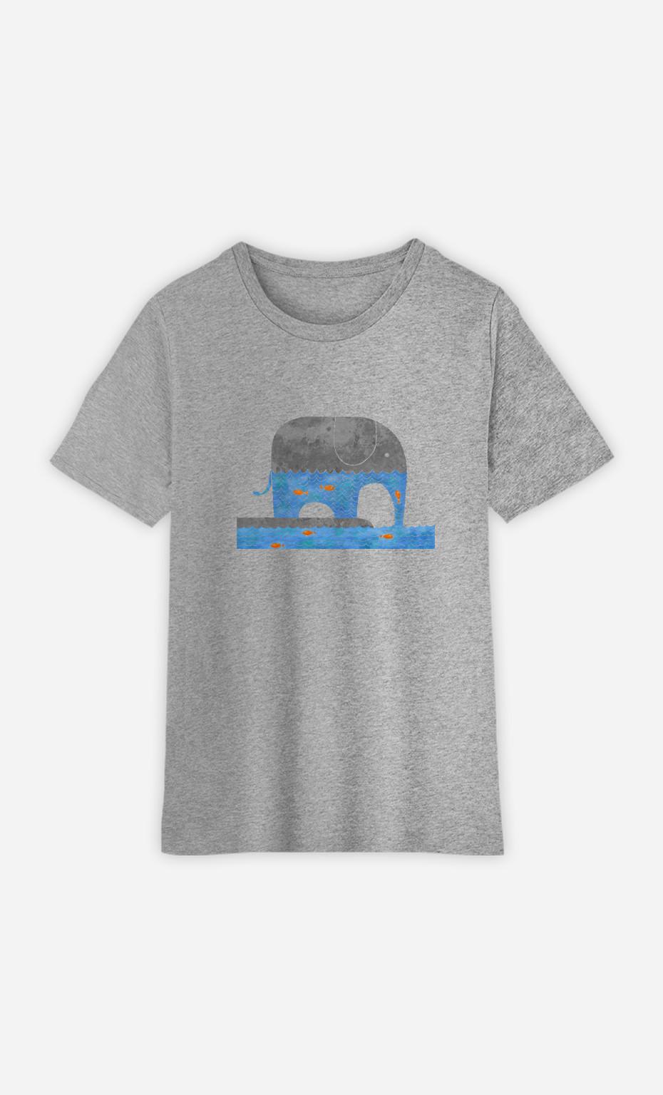 Kid T-Shirt Thirsty Elephant