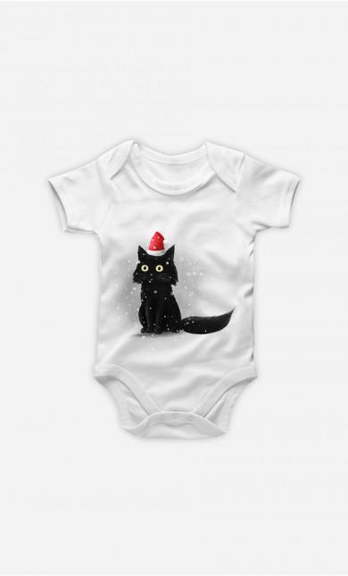 Baby Bodysuit Christmas Cat
