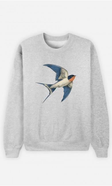 Man Sweatshirt Barn Swallow