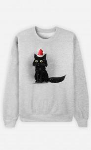 Man Sweatshirt Christmas Cat