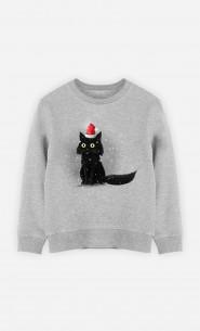 Kid Sweatshirt Christmas Cat