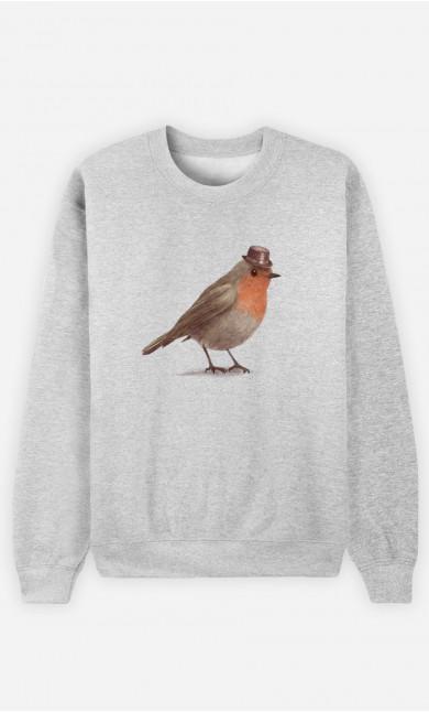 Woman Sweatshirt Dapper Robin