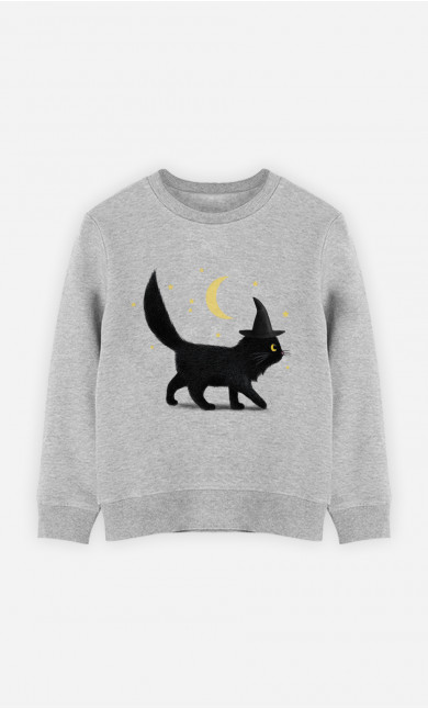 Kid Sweatshirt Halloween Cat