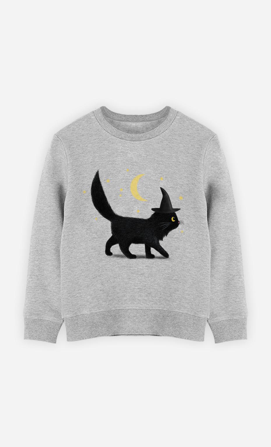 Kid Sweatshirt Halloween Cat