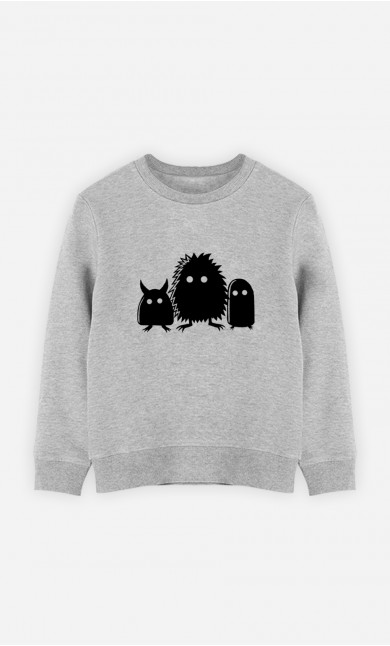 Kid Sweatshirt Monster Trio