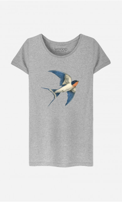 Woman T-Shirt Barn Swallow