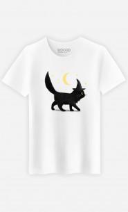 Man T-Shirt Halloween Cat
