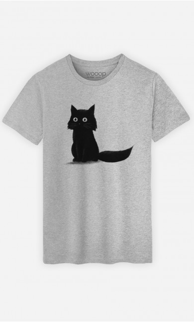 Man T-Shirt Sitting Cat