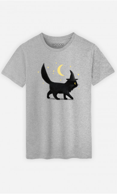Man T-Shirt Halloween Cat