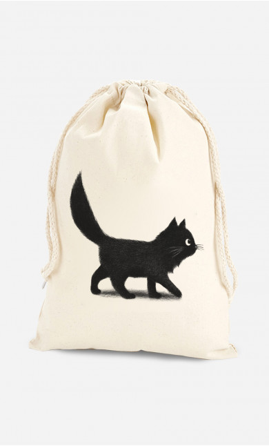 Cotton Pouch Creeping Cat