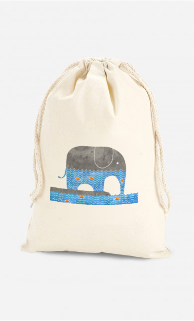 Cotton Bag Thirsty Elephant
