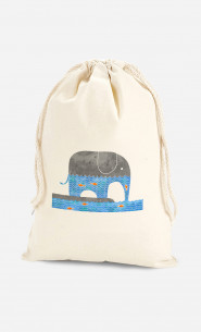 Cotton Bag Thirsty Elephant