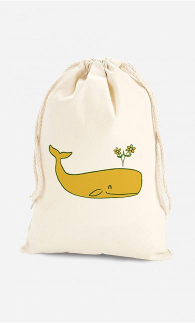 Cotton Bag Peace Whale