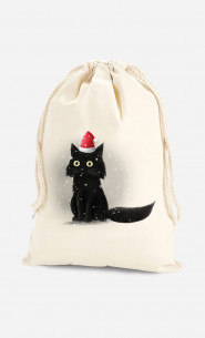 Cotton Bag Christmas Cat