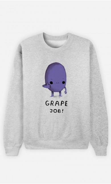 Woman Sweatshirt Grape Job