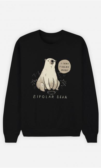 Woman Sweatshirt Bipolar Bear