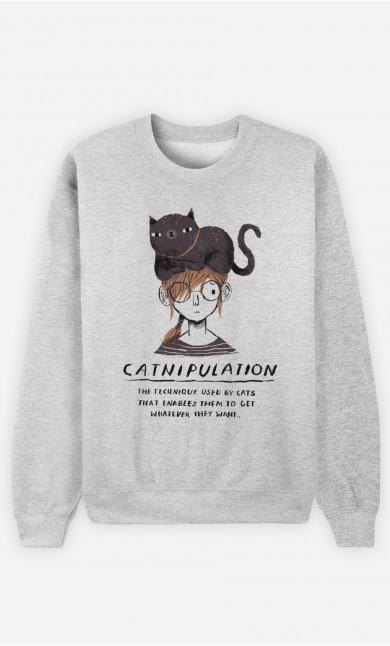 Woman Sweatshirt Catnipulation