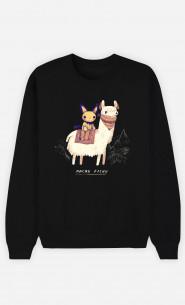 Woman Sweatshirt Machu Pichu